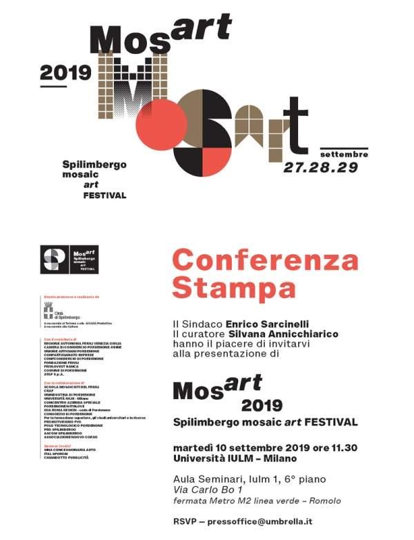 Mosart 2019 Spilimbergo mosaic art Festival | press conference