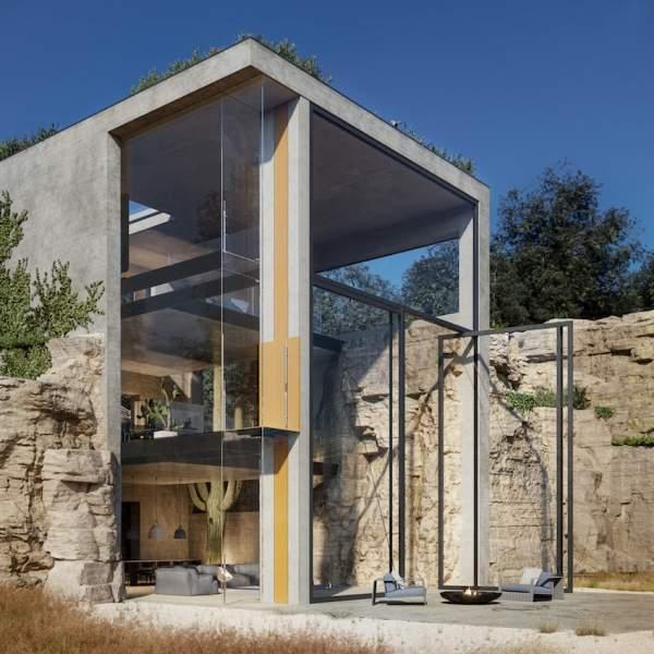 ALA, il nuovo home lift di Vimec nella Casa nella roccia