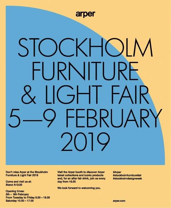 Arper alla Stockholm Furniture&Light Fair