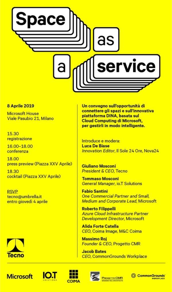 Tecno convention | Space as a service |