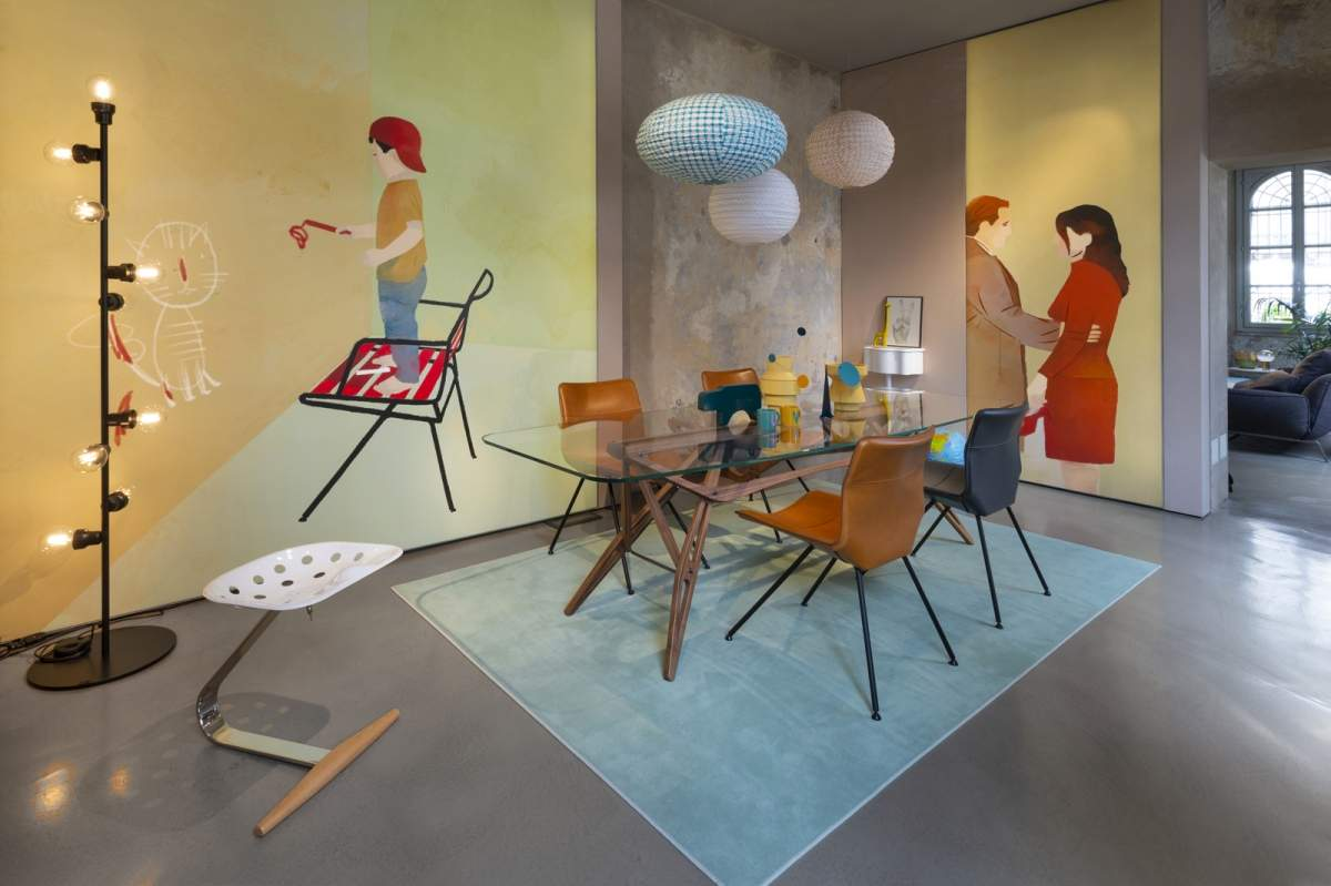 Dining - Collection 2020 Back to emotions   Sedie Dan versione in cuoio (Patrick Norguet, 2020)