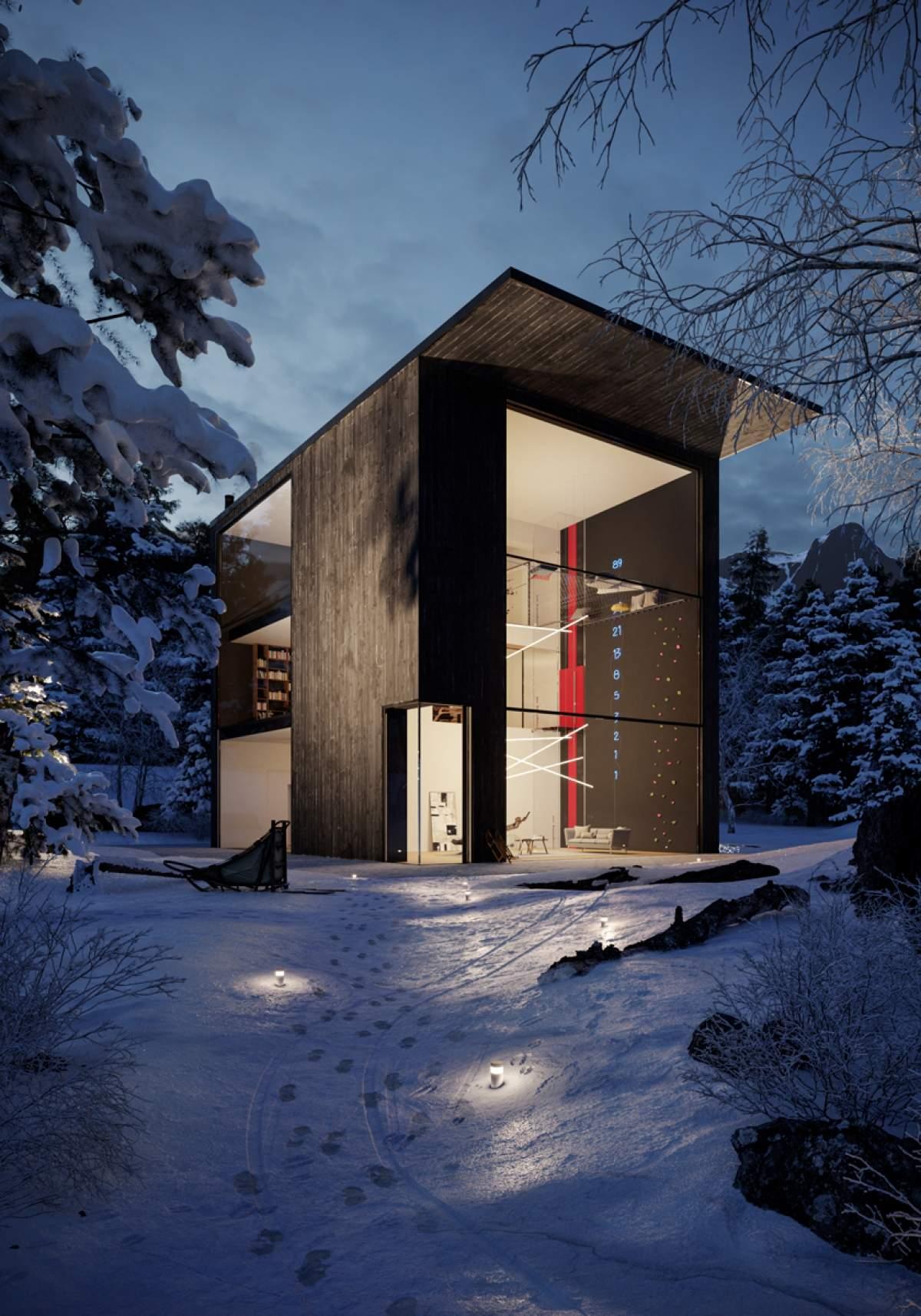Corviglia-Piz Nair, Casa nella pineta, Svizzera - project by Adriano Design