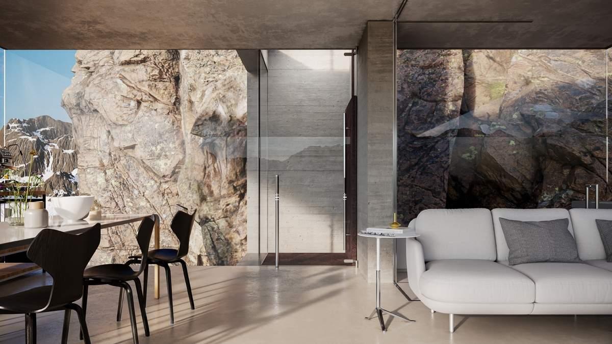 Le Monêtier-les-Bains, Casa sulla roccia, Francia - project by Adriano Design