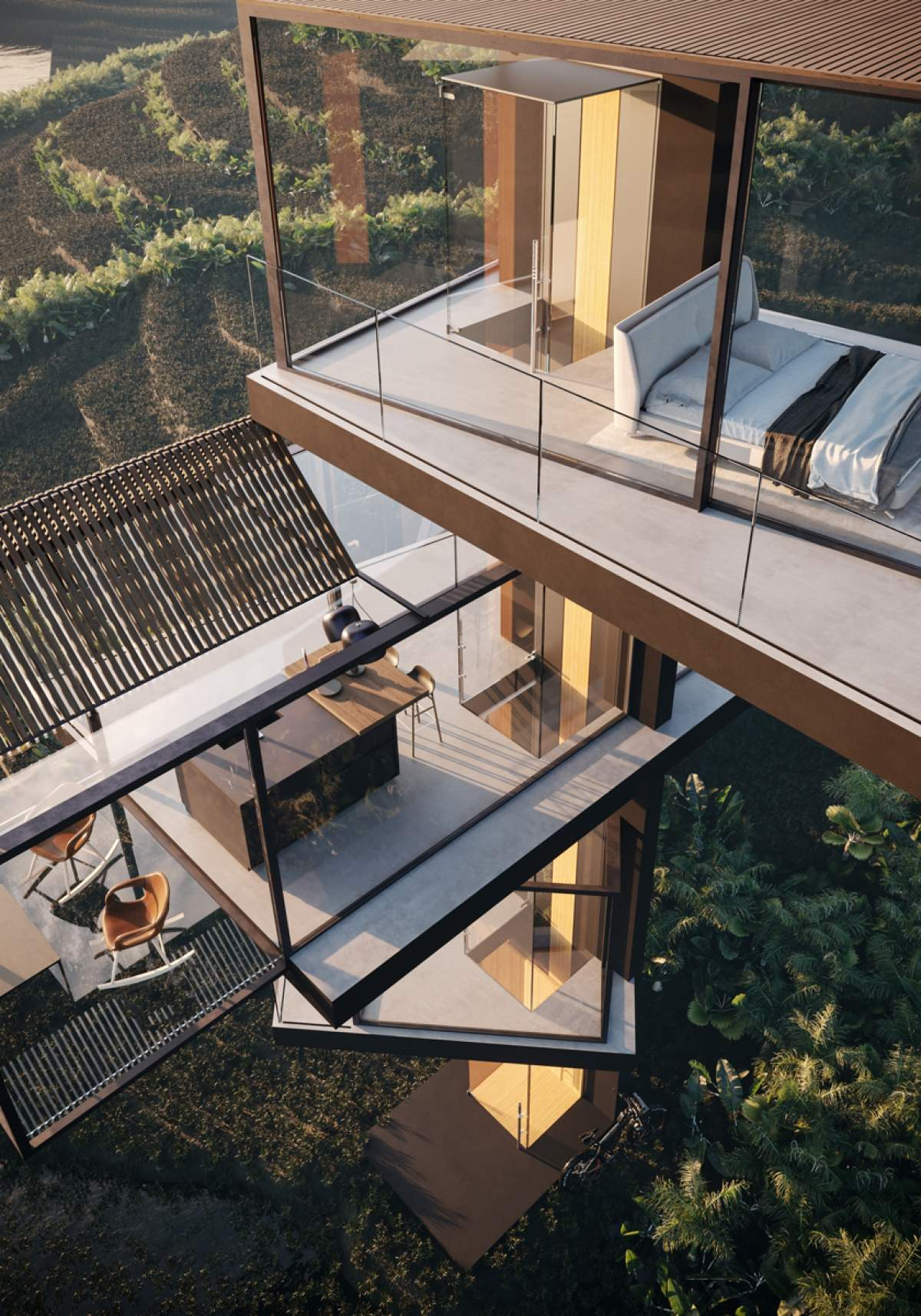 Xianggong, Casa sulla risaia, Cina - project by Adriano Design