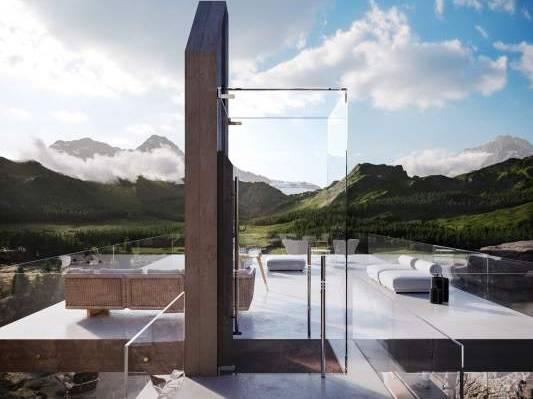 Le Monêtier-les-Bains, Casa nella roccia, Francia - project by Adriano Design